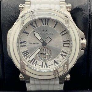 Diamond AQUASWISS Bolt L Watch White Silver NIB